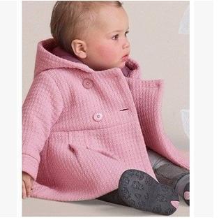 Новый 2016 Горячая Зима Девочка Пальто детская Мода Пальто 1-3 Лет 80 90 95 Размер Оптовая и Розничная Младенческой верхняя одежда