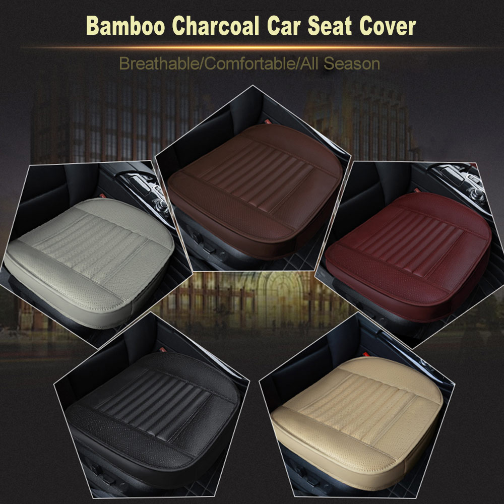 Breathable PU Leather Bamboo Car Seat Mat Protector Cover Chair Cushion