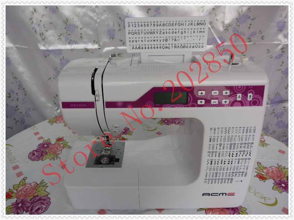 2016 new domestic sewing machine with lcd screen 200 built in stitch