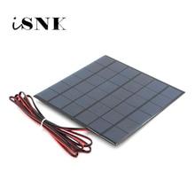 6V 9V 18V Pannello Solare con 100/200 centimetri di filo Mini Sistema Solare FAI DA TE Per La Batteria caricatore Del Telefono cellulare 2W 3W 4.5W 6W 10W Solare giocattolo