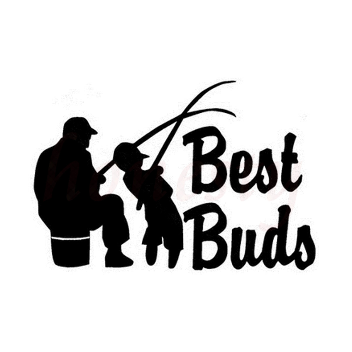 Vinyl Decal Sticker Best Buds Fishing Wall Home Glass Window Door Laptop Car Sticker Motorcycle Decorating Sticker 16.8cmX11.4cm