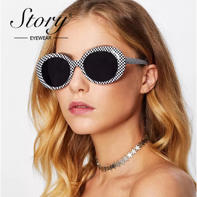 d343228aba22 STORY 2019 Kurt Cobain Sunglasses Women Vintage Retro Small Oval Round Sun  Glasses Mirrored Shases Eyewear Female Male Glasses