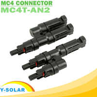 MC4 Connector One Pair Multi T Branch MC4 Connector for Solar Panel Connection Male and Female Connector Solar Cell Connect