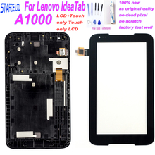 7 Touch Panel for Lenovo Tablet IdeaTab A1000 A1000L Touch Screen Digitizer LCD Display Assembly with Frame Matrix Screen 10 1inch lcd display touch screen digitizer with frame matrix for lenovo tab 3 10 plus tb x103f lcd module screen panel