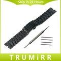 22mm pulseira de aço inoxidável para motorola moto 360 1 1st gen 2014 smart watch borboleta banda fivela pulseira pulseira de substituição