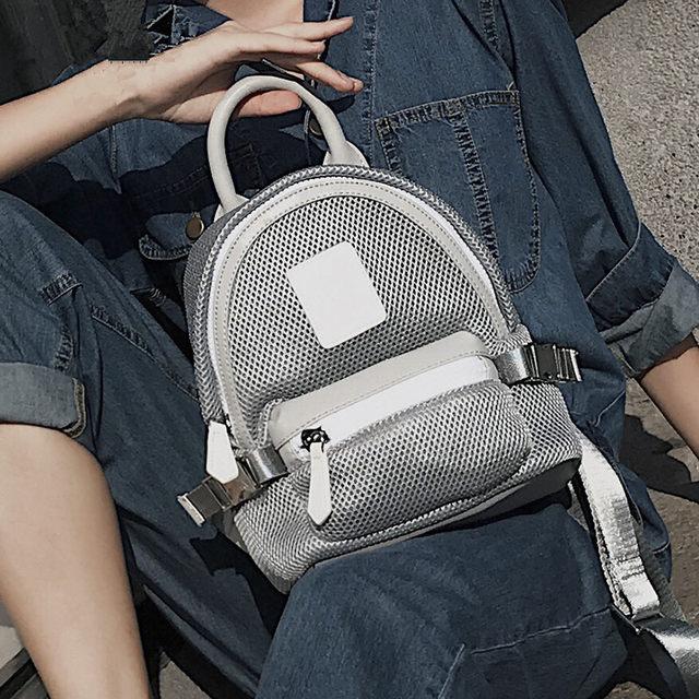 Online Shop Mini Backpacks For Girl New Style Women Bag 2018 Mesh ... 62109b0ff5e51