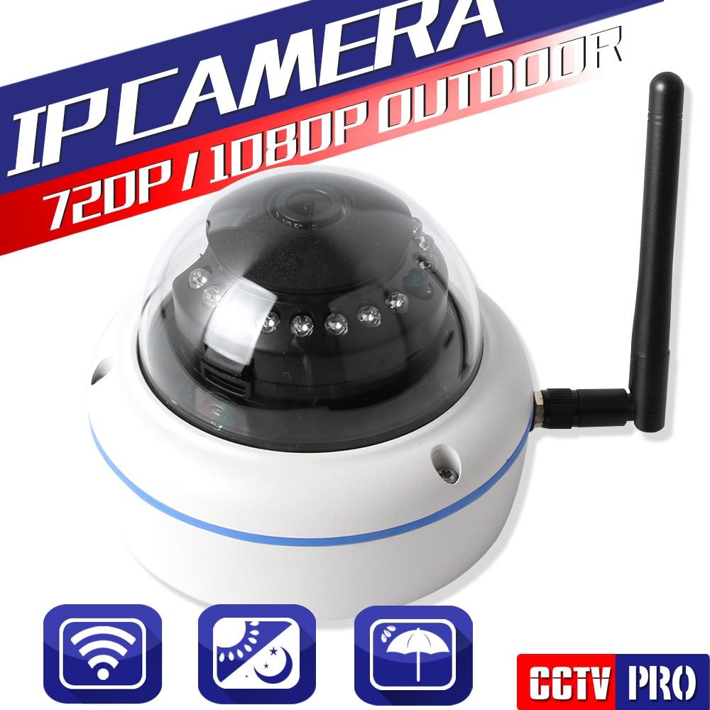 ФОТО HD 720P 1080P Wireless IP Camera Dome Outdoor IP66 Mini IP Camera XMEye CCTV Surveillance Cameras Wifi Onvif For Home Security
