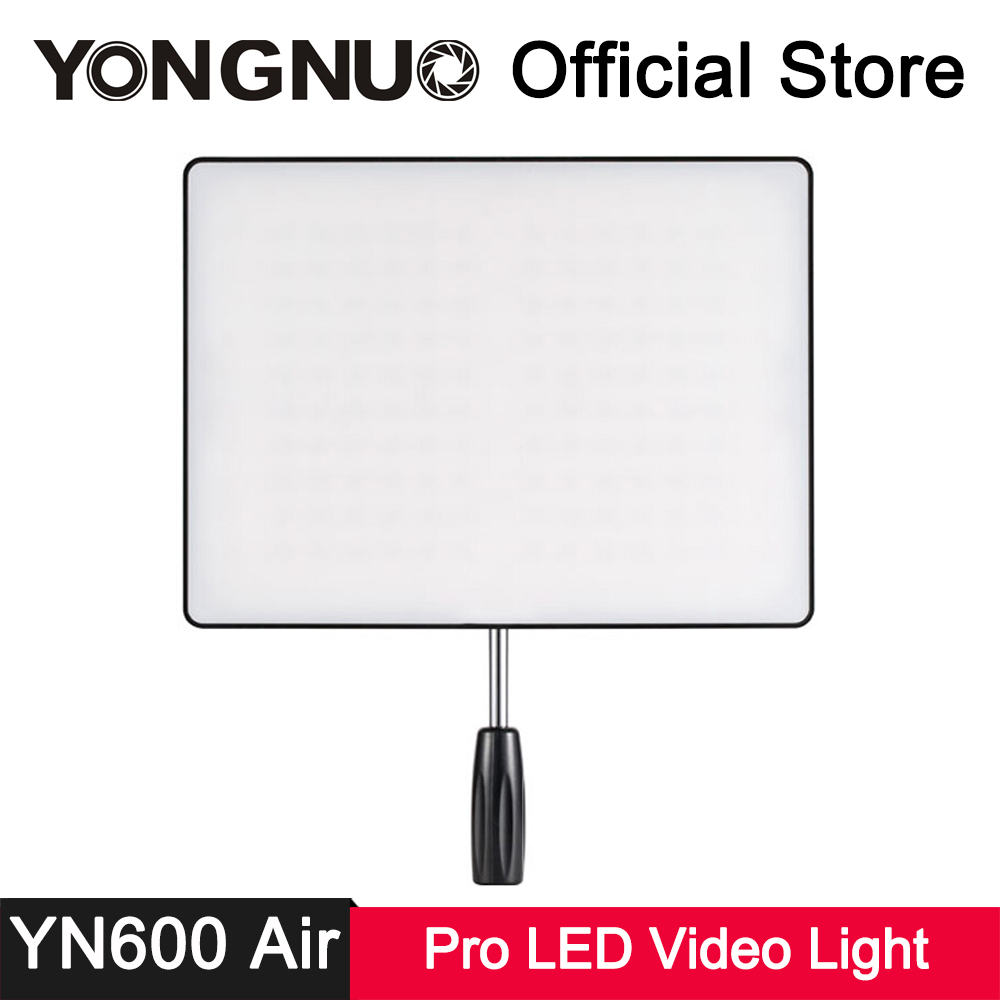 YongNuo YN600 Air LED Video Light Ultra-thin 3200K-5500K Bi-color CRI 95+ Natural Soft Light Photo Studio Photography Lighting mcoplus air 1000b led video light pockable cri 95 display bi color