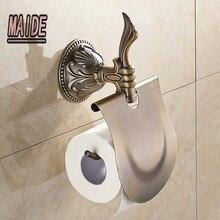 Классический античная бронзовая настенные держатель туалетной бумаги ткани бар держатель
