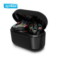 True Wireless Stereo Earbuds Games Bluetooth 5.0 Headset Deep bass Wireless Earphones with Mic Handsfree For Sony Samsung iPhone