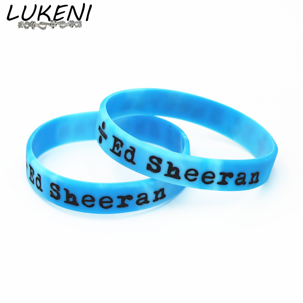 LUKENI Hot Sale 1PC Ed Sheeran Divide Silicone Wristband Black Music Band Silicone Bracelets & Bangles for Fans Gift SH079 ...