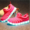 Comfortable Children Sneakers With LED Lights Sport Enfant Colorful Running Skate  Shoes for Kids Boys or Girls Spring