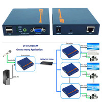 VGA USB Audio Over IP KVM Extender 200m 1080P VGA Keyboard Mouse Extender Transmitter Receiver By Ethernet RJ45 Cat5e Cat6 Cable
