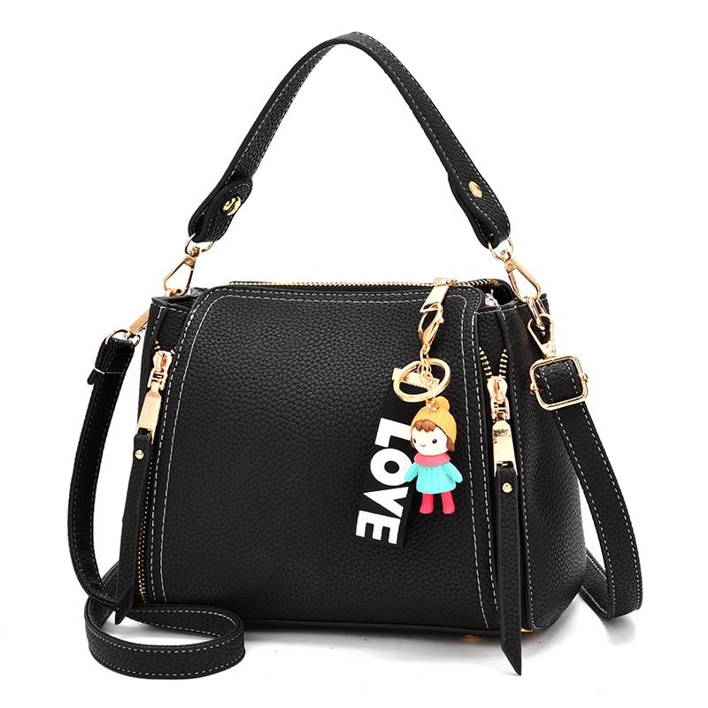 Ladies new fashion hand bags joker bucket shoulder messenger crossbody bags for women 2018 high quality handbags Cartoon doll