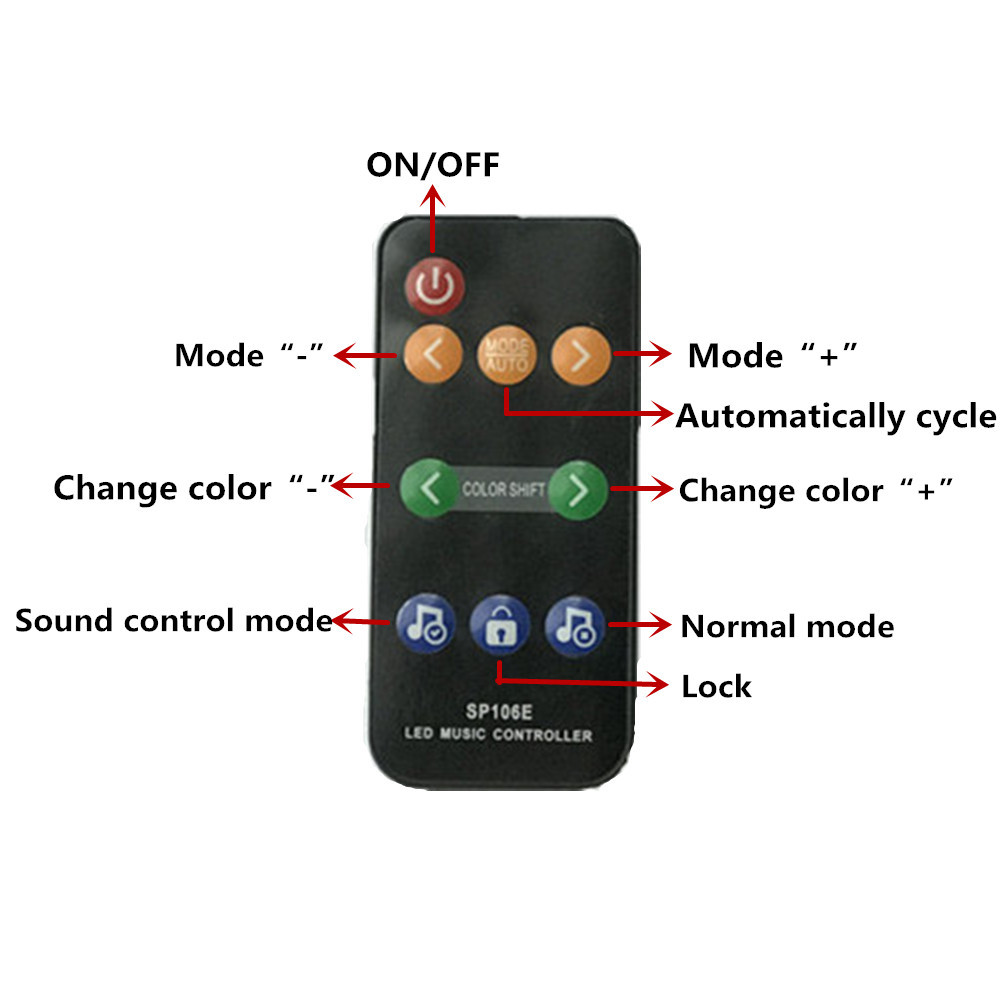 LED Symphony IC Music Controller Colorful Music X2/SP106E DC5V-12V For WS2812B WS2811 WS2813 SK6812 1903 Strip Lights Bar KTV TV