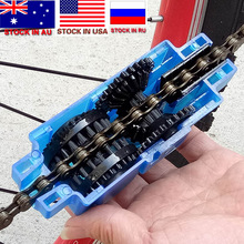 ZK30 Dropshipping Portable Bicycle Chain Cleaner Bike Brushes Scrubber Wash Tool Mountain Cycling Cleaning Kit Outdoor Accessory