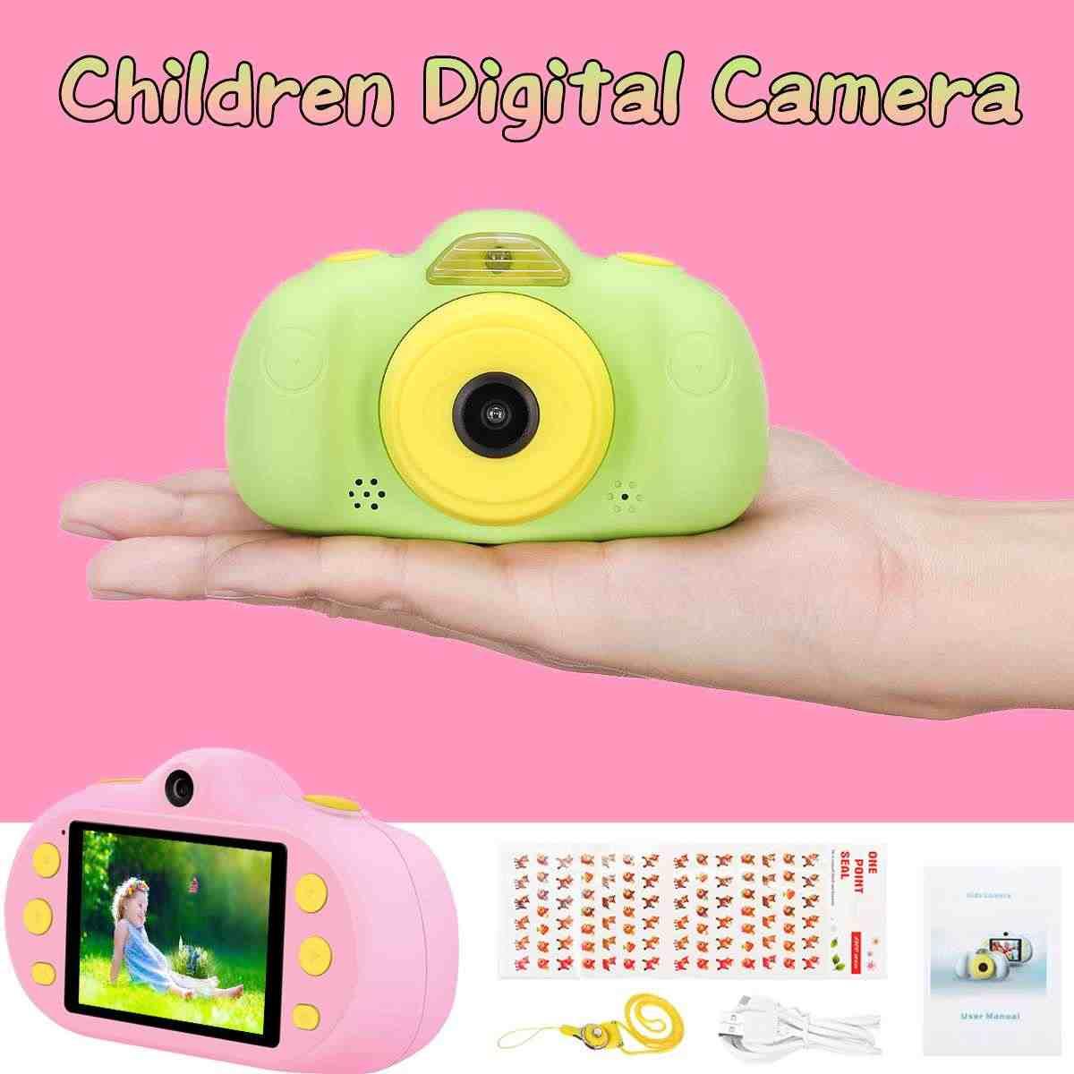 """2,4 """"двойная запись детская игрушка камера детская обучающая игрушка для малышей фотокамера детская мини цифровая игрушка камера для Рождественский подарок"""