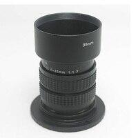 Fujian 35mm f/1.7 CCTV lente cine para M4/3/MFT montar câmera + anel adaptador c-m4/3 + capa para olympus panasonic micro 4/3 câmeras