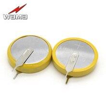 50pcs/lot Wama CR2450 Button Cell Welding Feet Coin Batteries 3V 180 degree 2 Solder Pins Watch DL2450 BR2450 battery