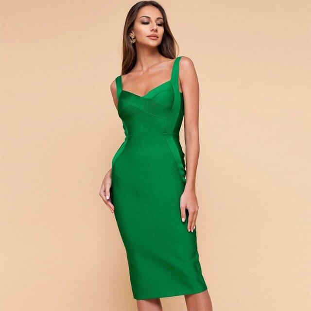 Seamyla 2019 New Bandage Dress Women Sleeveless Sexy Bodycon Celebrity Evening Party Dresses Vestidos Midi Club Summer Dress