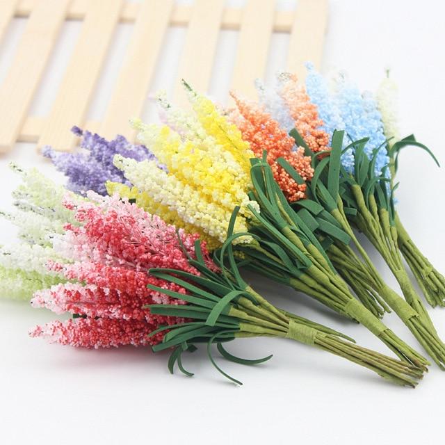 1 Bouquet Di Fiori di Seta FAI DA TE Ghirlande di fiori artificiali fiori di lav