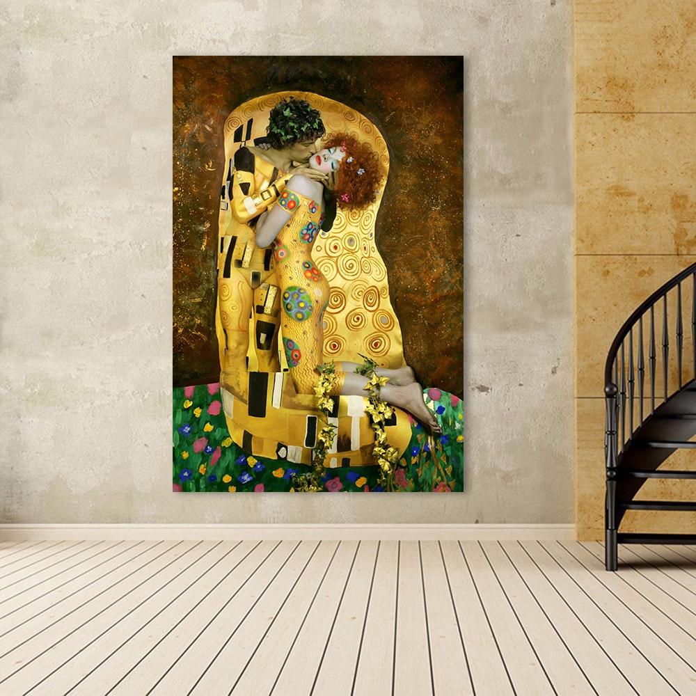 HDARTISAN Canvas Art Wall Pictures For Living Room Gustav Klimt ...