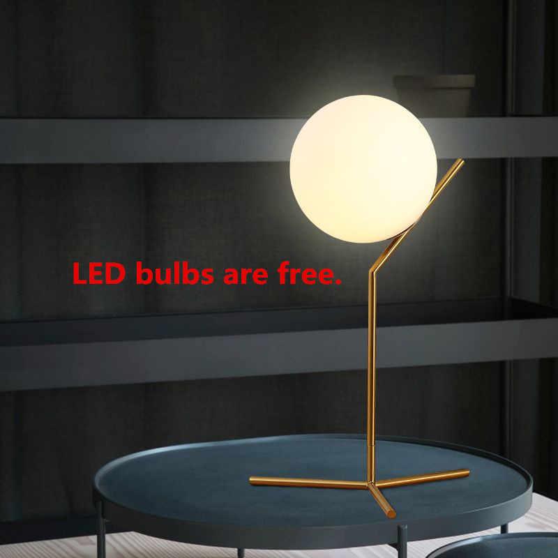Стекло мяч настольная лампа Abajur luminaria-де-меса Lampara LED Escritorio E27 свет книга для чтения освещения прикроватные кафе стол лампа