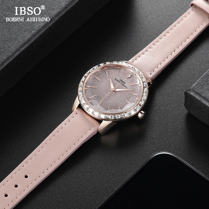 IBSO Brand New Fashion Women Watches Crystal Diamond Decoration Luxury Ladies Quartz Watch Women Montre Femme 2018 Female Clock fashion women watches women crystal stainless steel analog quartz wrist watch bracelet luxury brand female montre femme hotting