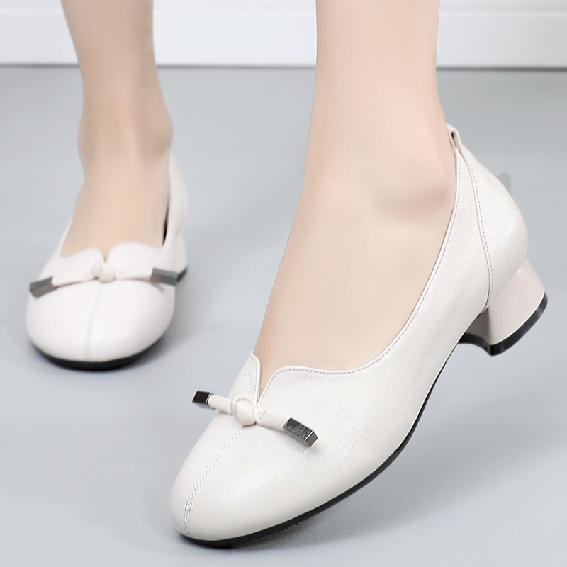 GKTINOO 2019 Women Autumn Spring Genuine Leather Low Thick Heels Shoes Handmade Vintage Shoes Cowhide Woman PumpsGKTINOO 2019 Women Autumn Spring Genuine Leather Low Thick Heels Shoes Handmade Vintage Shoes Cowhide Woman Pumps