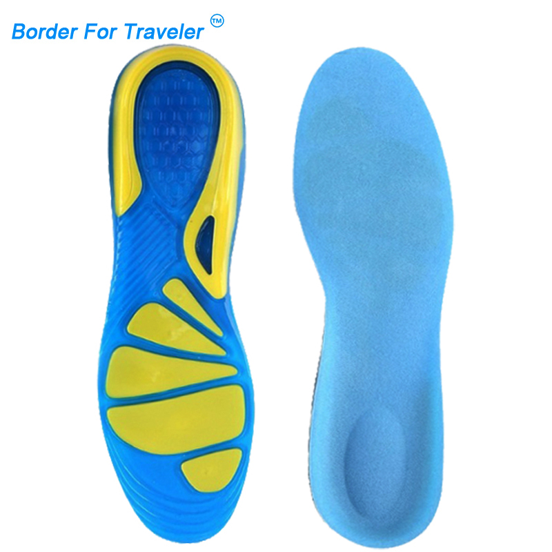 Foot Care for Arch Plantar Heel Sport Shock Absorption Pads Latex Gel Insoles W