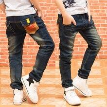 New fashion boys jeans trousers children boy autumn spring denim pants