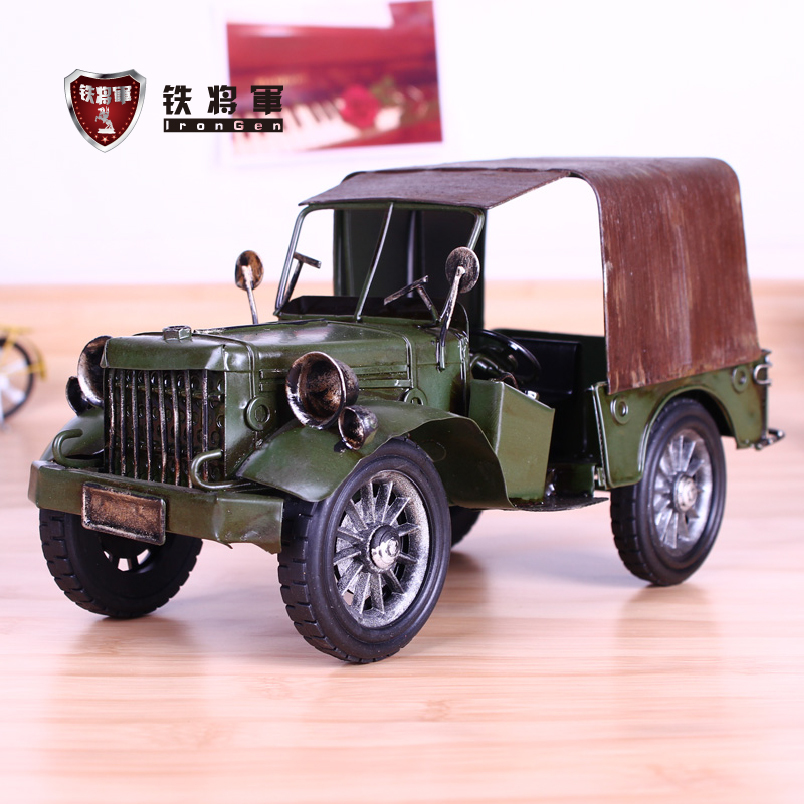 Vintage Willys Jeep tin car models to do the old military vehicle ...