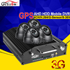 720P HD 4CH Video Audio Input Real Time Surveillance AHD Vehicle Mobile Dvr 3G GPS Remote