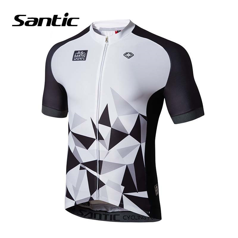 Santic Cycling Jersey Men Short Sleeve Breathable Anti-sweat Bike Maillot Ciclismo MTB Jersey Bicycle Shirt Cycling Clothing cheji men original camouflage green cycling jersey mtb outdoor breathable bike short sleeve clothing bicycle jersey s 3xl