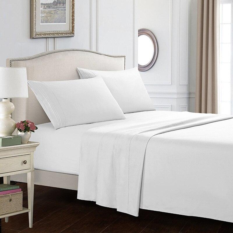 12Pure colors full size bed set Sheet Full Size Pillowcase&Duvet Cover Sets 3&4 pcs bedding luxury