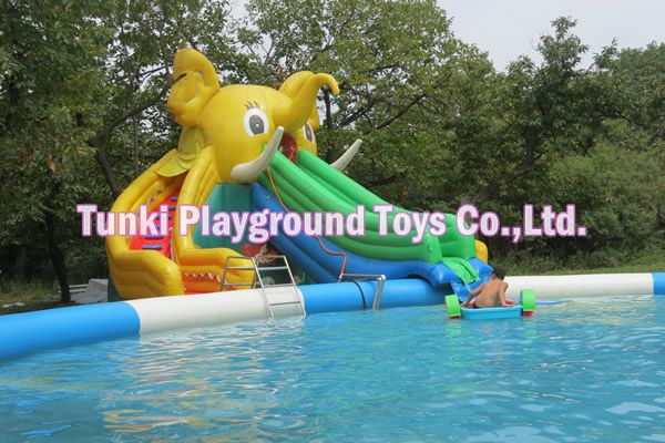 indoor & outdoor inflatable elephant water pool slide (not including pool)