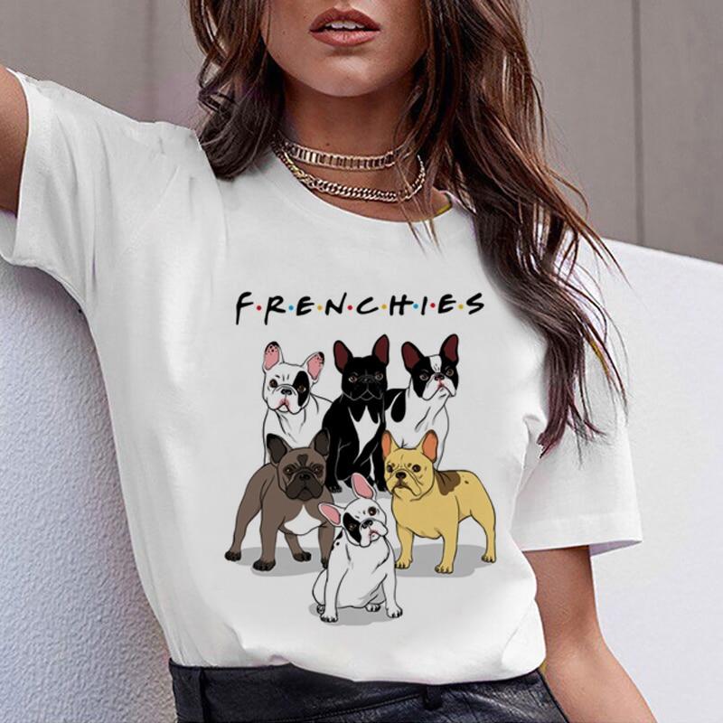 Dachshund Pug Teckel Funny   T     Shirt   Women Harajuku Cute French Bulldog Frances German Shepherd   T  -  shirt   Pit Bull Tshirt Top Female
