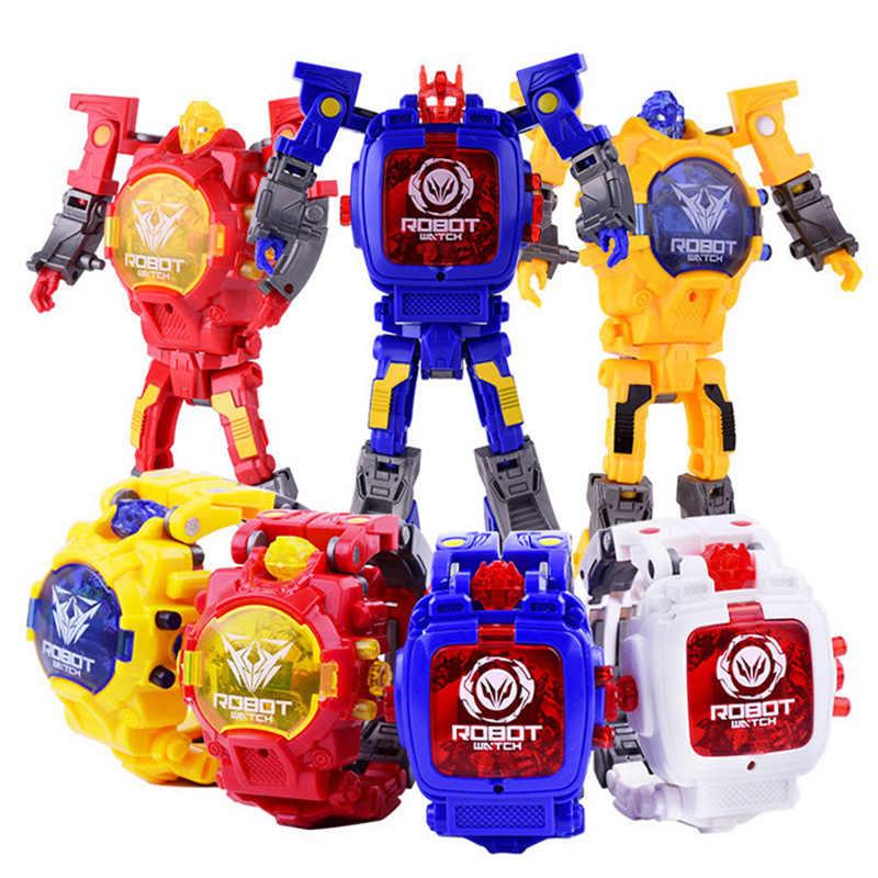 a80e15c4c Creative Children Watch Transformers Electronic Watch Kid Robot Educational  Toys Sport Digital Kids Watches Boy Girl