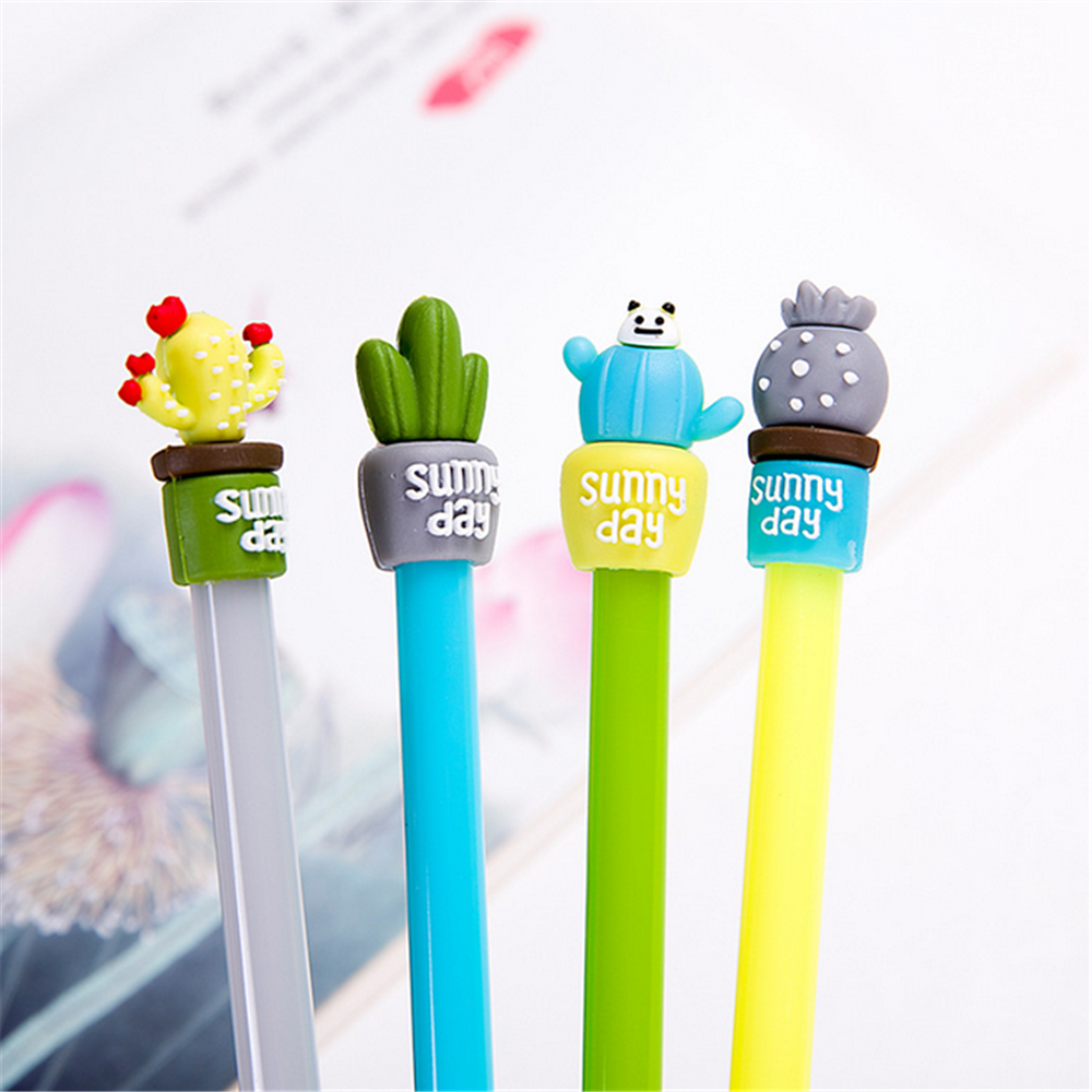 TOMTOSH 1 cute pen / student creative super Meng good look black pen Office & School Supplies/4 colors can be selected super meng yee 500g 5