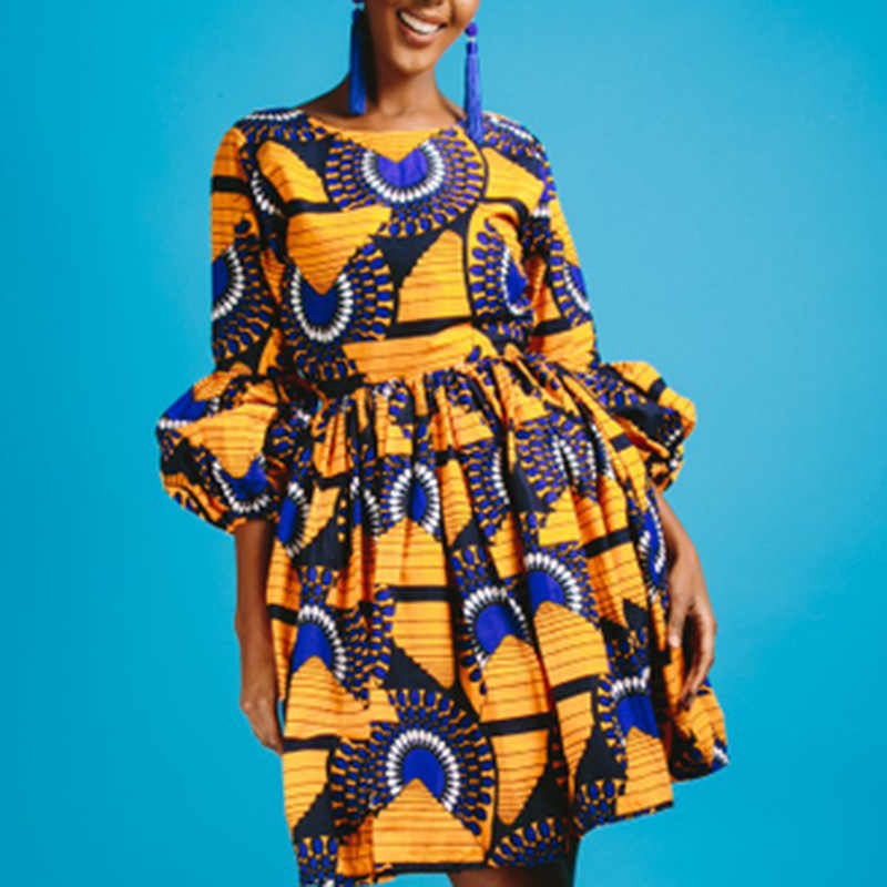 ... Plus size 3XL african print dashiki dress Indie Folk Ball Gown 2018  long Puff Sleeve Traditional ... a8443c2a930f
