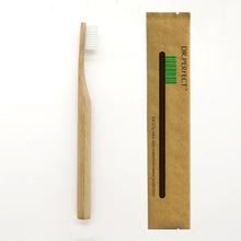 Белый Цвет цельнокроеное платье столб Стиль ручки бамбуковые Зубная щётка дерева Новинка бамбука мягкой щетиной головчатого нейлон волокна деревянной ручкой