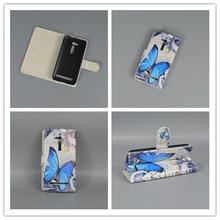 Bandeira flor new borboleta carteira designer virar fique book cover case for asus zenfone go zb500kl 5.0 polegada