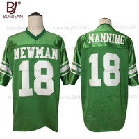 2017 New Cheap Eli Manning 18 Isidore Newman High School American Football Jersey Green Throwback Stitched