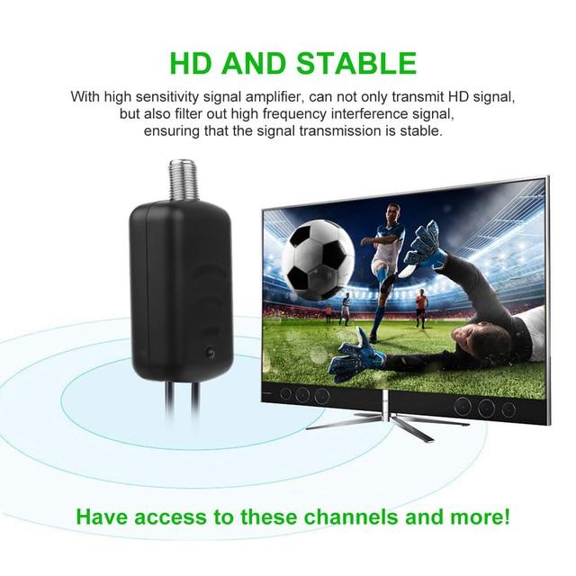 4K Antenna Digital Amplifier Digital TV Antenna 300 Mile Range HD Indoor HDTV 1080P HD TV Antenna Flat Design White/Black
