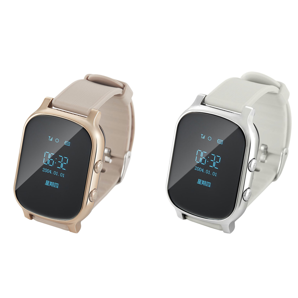 T58 Smart Mini GPS Tracker Watch OLED Bracelet for Kids SOS Button Two-way Communication GSM Phone Wristwatch 2016 new g2 gps tracker watch for kids children smart watch with pedometer sos google map button gsm phone wristwatch