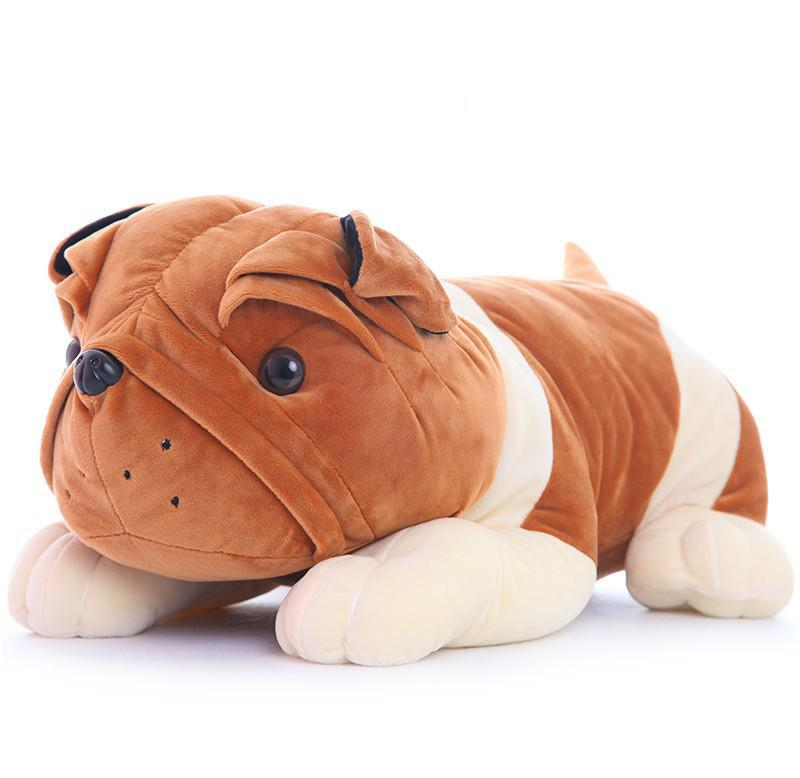 BOHS Cute Plush Bulldog Doll Lying Prone Dog Cockle Pillow Toy Baby Toddler Gift  32cm 75cm super cute plush toy dog lipstick dog pillow doll lying prone as gifts to friends and children with down cotton