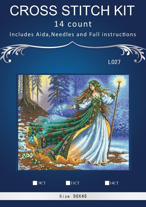 5ÈME Top Qualité Populaire Belle point de Croix Compté Kit Woodland Enchanteresse dim 35173 fée assistant sorcière