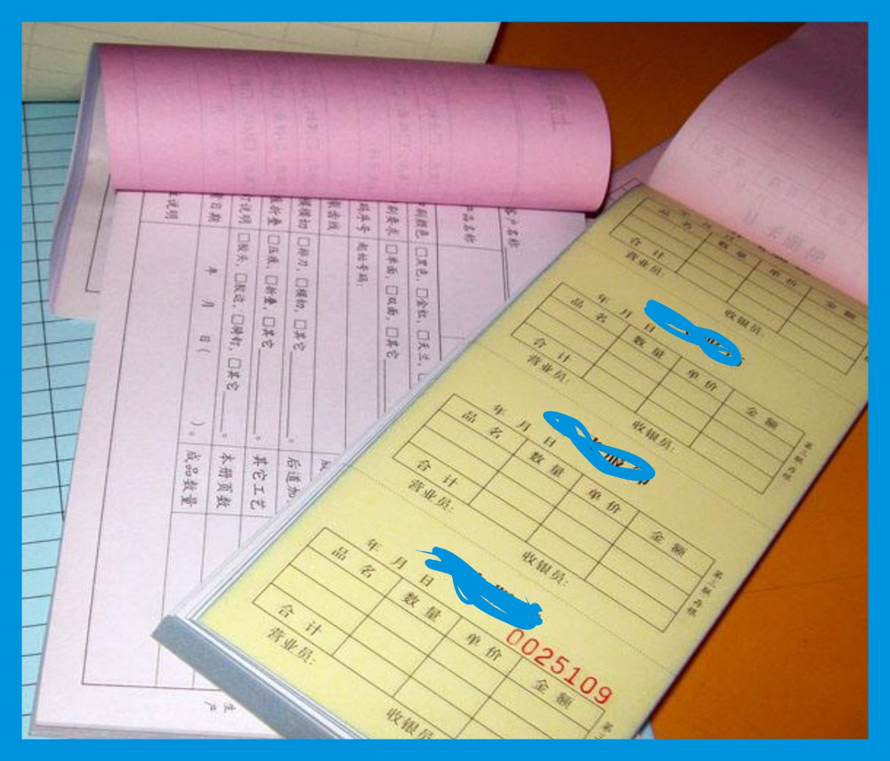 Offset Machine Printing Carbonless Invoice Book Custom