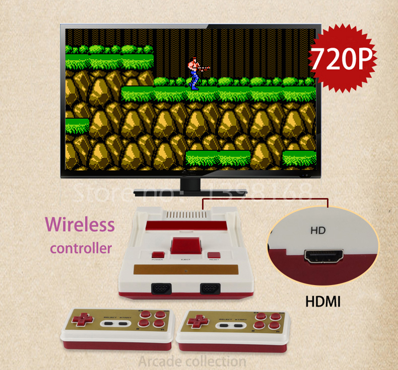 720P HDMI out put Arcade Video Game Consoles Nostalgic TV game player two wireless controllers/ buit in 8Bit 88 IN 1 games 4 styles hdmi av pal ntsc mini console video tv handheld game player video game console to tv with 620 500 games