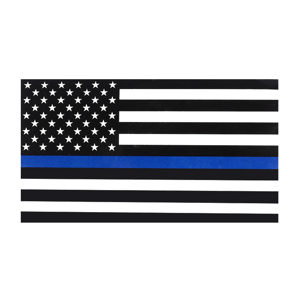 Funny 5x Police Officer Thin Blue Line American Flag Decal Car Stickers Graphic